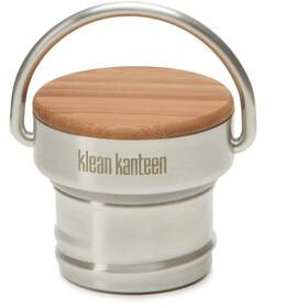 Klean Kanteen Tappo in bambù per borracce classiche, argento/beige